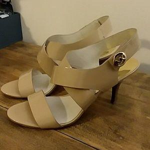 Michael Kors Beige Patent Leather Heels